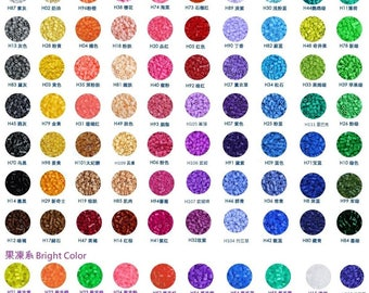 2.6mm Mini Beads (H-Series 144 Colors) - High Quality Mini Beads Refill (Color No. : H01 to No.H70) - (Perler Beads/Hama Beads/Fuse Beads)