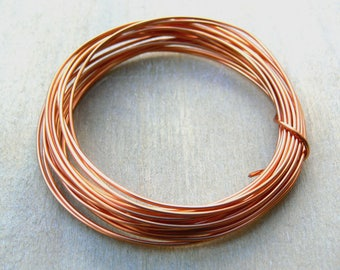 1.0mm coated copper wire - 18g coated copper wire - non tarnish copper wire - jewelry making supplies - wire wrapping supplies  - CCW018, 4m
