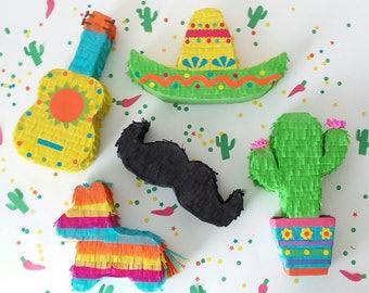 Mini Piñata Party Favor   Cinco de Mayo  Mexican Fiesta    Party Decoration   Set of 5