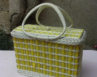 Rare old basket, vintage 50s / 60s or bag