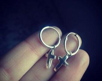 CROSS Handmade sterling silver earrings