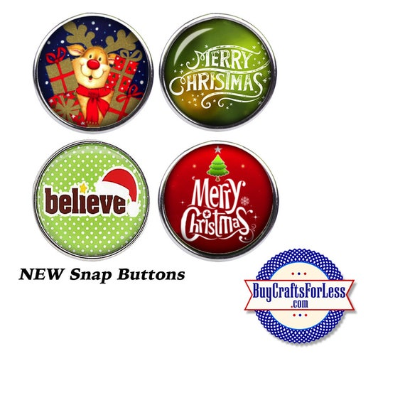 SALE! SNaP CHRiSTMAS ASST'd BUTTONs, 18mm INTERCHaNGABLE Buttons, 4 NeW Styles +FREE Shipping & Discounts