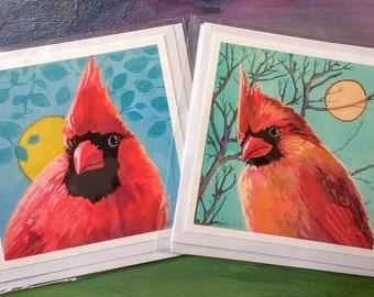 Cardinal Pair-Greeting cards