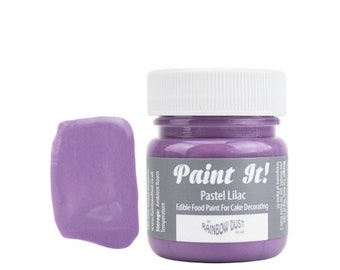 Pastel Lilac Edible Paint Pot - pastel purple edible art paint, edible paint, edible food coloring, cookie paint, cake paint