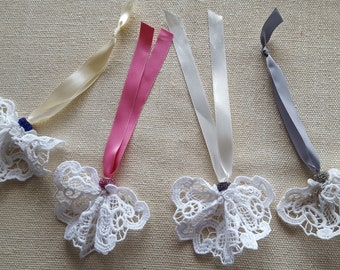Tassel hanging or sewing lace Pearl rhinestone Satin Ribbon