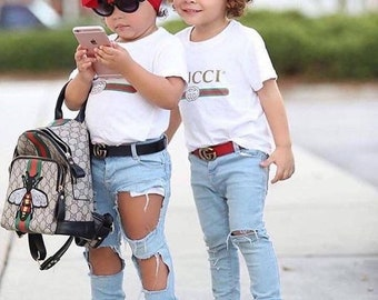Child size Gucci  inspired unisex shirt designer shirt unisex designer shirt Gucci  inspired T-shirt GUCCI vintage Gucci shirt