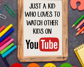 Just a Kid You Tube SVG