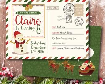 Christmas Party Invite, Christmas Party, Christmas Invitation, Christmas Printable, Christmas Birthday, Digital Printable Invitation
