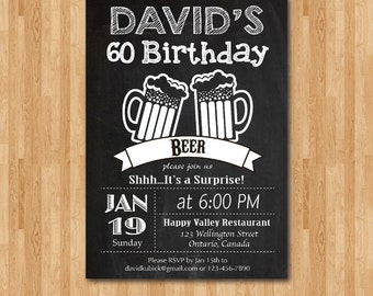Birthday Invitation Beer Party Invitations Jpg 340x270 Happy Man