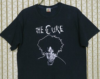 The Cure vintage rare T-shirt, faded black tee shirt, Robert Smith, The Glove, Siouxsie and the Banshees, Sioux