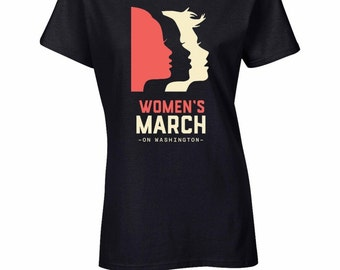 Women's March On Washington T-Shirt WOMEN BLACK Shirt