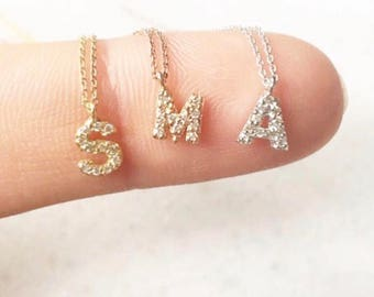 Handmade Personalized initial small letter necklace