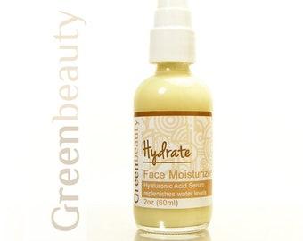 Hyaluronic acid serum, 2oz, hyaluronic acid moisturizer, face moisturizer, anti aging serum, moisturizing serum, facial moisturizer, lotion