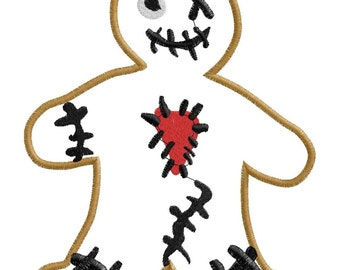 Zombie Gingy Applique Only