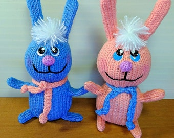 Rabbit Stuffed animal Easter souvenir Easter rabbit Cute bunny  Animal toy Miniatures toys French toy Cuddly doll  Knitted Toy Fanny Animal