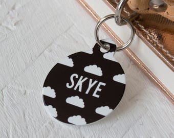 Personalised Cloud Pet ID Tag  - Dog Name Identification