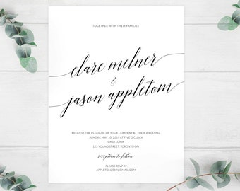Modern Wedding Invitation - 25 pack   | Made to Order | Vineyard Wedding, Modern Bride, Bridal, Wedding