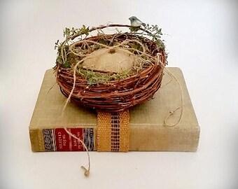 Ring Bearer Nest / Book, Pillow