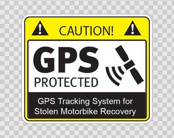 Decal Sticker Gps Protected Security Prevention Stickers  14118