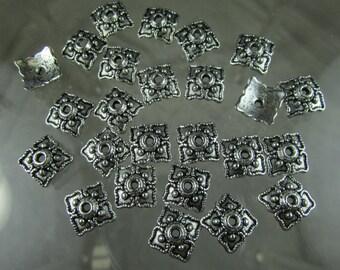 Pewter 9mm. beadcaps