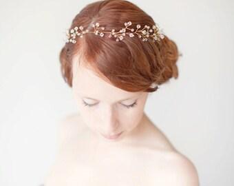 Braut Stirnband, Haarkranz, Kristall Kopfschmuck, Kopfschmuck, Hochzeitsstirnband, Kristallstirnband, Haar Vine - ungezähmte