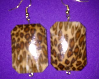 Large, Bold, Animal Print Earrings