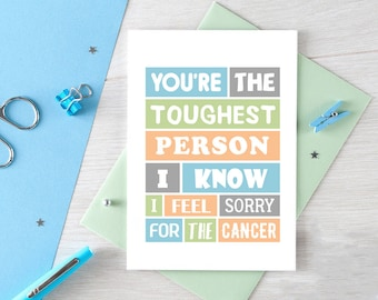 Cancer Thinking Of You Card | Uplifting | Encouragement | Empathy | Cancer Support | Cancer Humor | Funny | Sending Love | Blank | SE0071A6