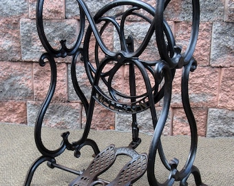 RARE Antique Cast Iron Wilson Treadle Sewing Machine Base ~ Table Stand Legs