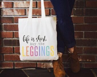 Canvas tote, canvas tote bag, canvas bag, tote bag, shopping, unicorn hunter, unicorn, consultant gift, hostess gift, VIP, leggings