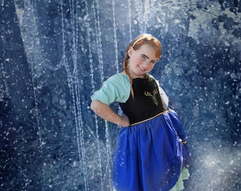 Inspired Anna Frozen Character Dress for Infants, Toddlers, Girls Sizes 12 mos to Size 10