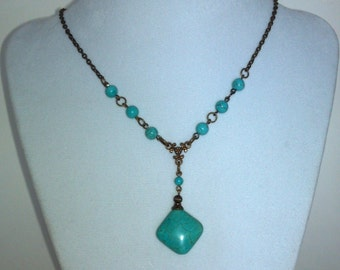 Genuine Turquoise Rosary Necklace