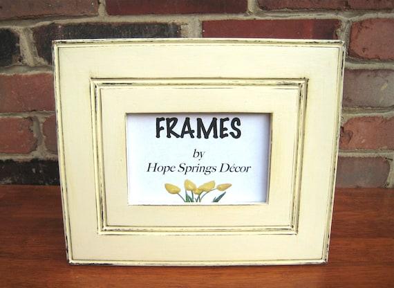Distressed white picture frame, 2.75\