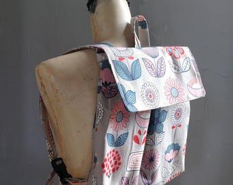 Grey Feeding Tube Backpack  - Custom Fabric - Light weight