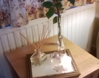 Vinatge Inspired Gold Floral Perfume Tray