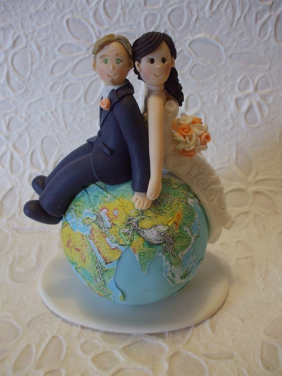 travel themed wedding cakes custom and groom travel wedding cake topper 21242