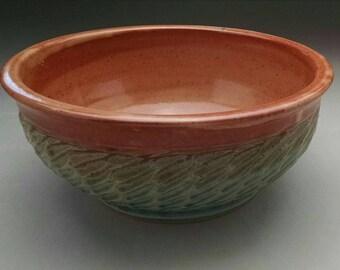 2 Quart Bowl- Aqua and Shino Glazed - Ready to Ship