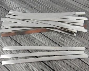 "Cuff Blanks, Rectangle Strip Metal Bracelet Blank, 1/4"" x 6"" Qty 6  Aluminun 20Ga, ImpressArt Hand Stamping Supplies"