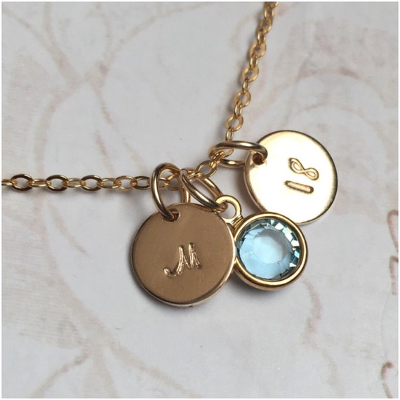 Personalized 18th Birthday Necklace Initial Custom: Personalized Gold Necklace 18th Birthday Gift Birthday
