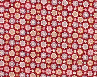 Tilda Limited Edition Candy Bloom, Aimee in Red Fat Quarter