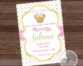 Minnie mouse baby shower invitations baby minnie mouse baby shower minnie mouse printable baby shower invitations disney baby filmwisefo