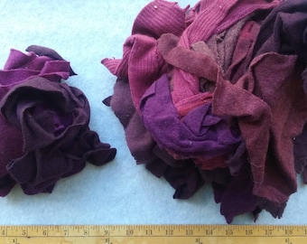 Cashmere Recycled Remnants - Mixed Dark Purples, Plumps to Light Purple for DIY Crafts and Projects - 16 oz. Bundle Size