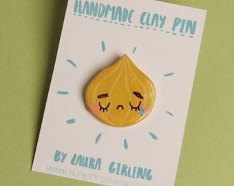 Crying Onion Pin/Badge/Brooch