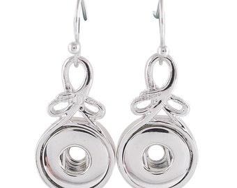 SMALL SNAP * Pierced Dangle Earrings Snap Chunk 12MM Interchangeable Jewelry