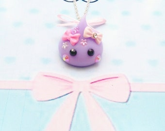 necklace kawaii purple hoppe chan