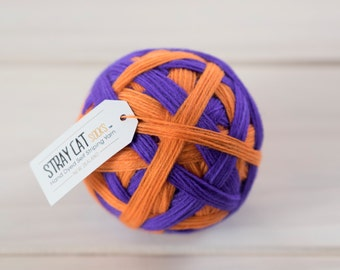 JAFFA - vibrant hand dyed self striping sock yarn