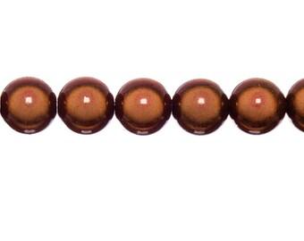 3 x 18mm - red magic round beads