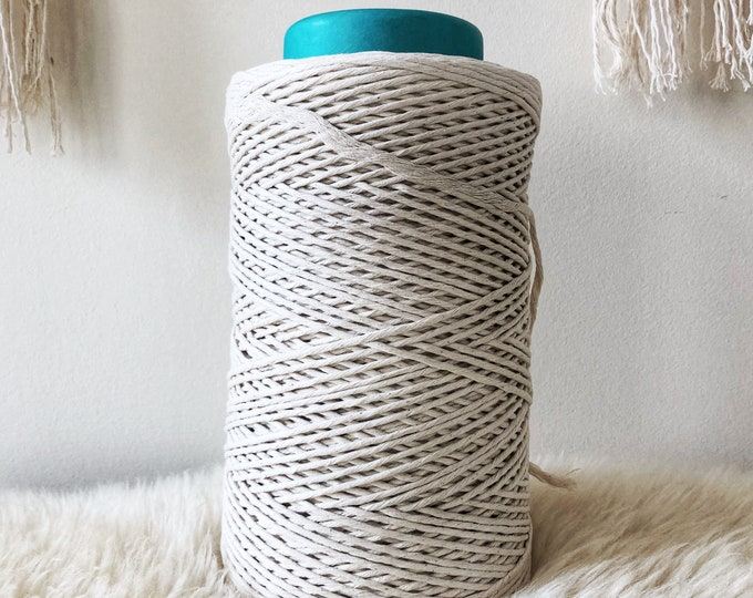 1000 FEET ( 304 meters) of 2 mm 100 % cotton STRING / macrame string / cotton/ 2 mm rope