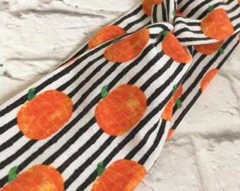 Turban headband - Watercolor Pumpkins - Baby - Toddler - Child - Adult - Happy Halloween