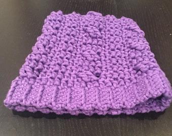 Purple Crochet Winter Hat