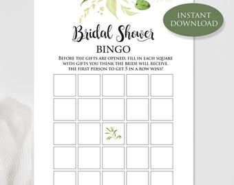 Bridal shower bingo template bridal bingo cards printable